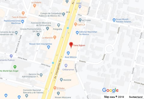 Swiss Re Mexico City Location image, linked to Google Maps